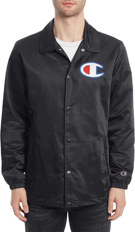 Champion Men's Coaches Jacket Black Size 2X Lightweight