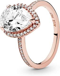 Radiant Teardrop Ring, Clear CZ 196251CZ