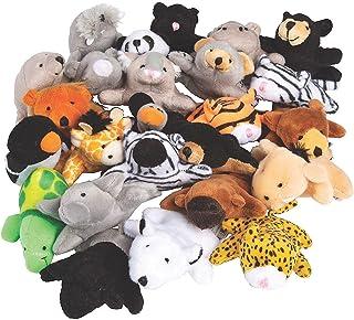 Mini Zoo Stuffed Animal Assortment   50 Count   Favors, Giveaways, Rewards, Gifts, Kid's Birthday, Zoo Theme, Vacation Bib...