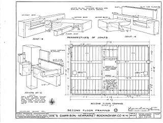 Historic Pictoric Blueprint Diagram HABS NH,8-NEWM,1- (Sheet 5 of 23) - Doe Garrison, Lamprey River & Great Bay, Newmarket, Rockingham County, NH 44in x 32in