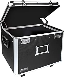 Vaultz VZ01270 Locking Mobile File Chest, Letter/Legal, 14 3/8 in x 17 3/8 in x 15 in, Black