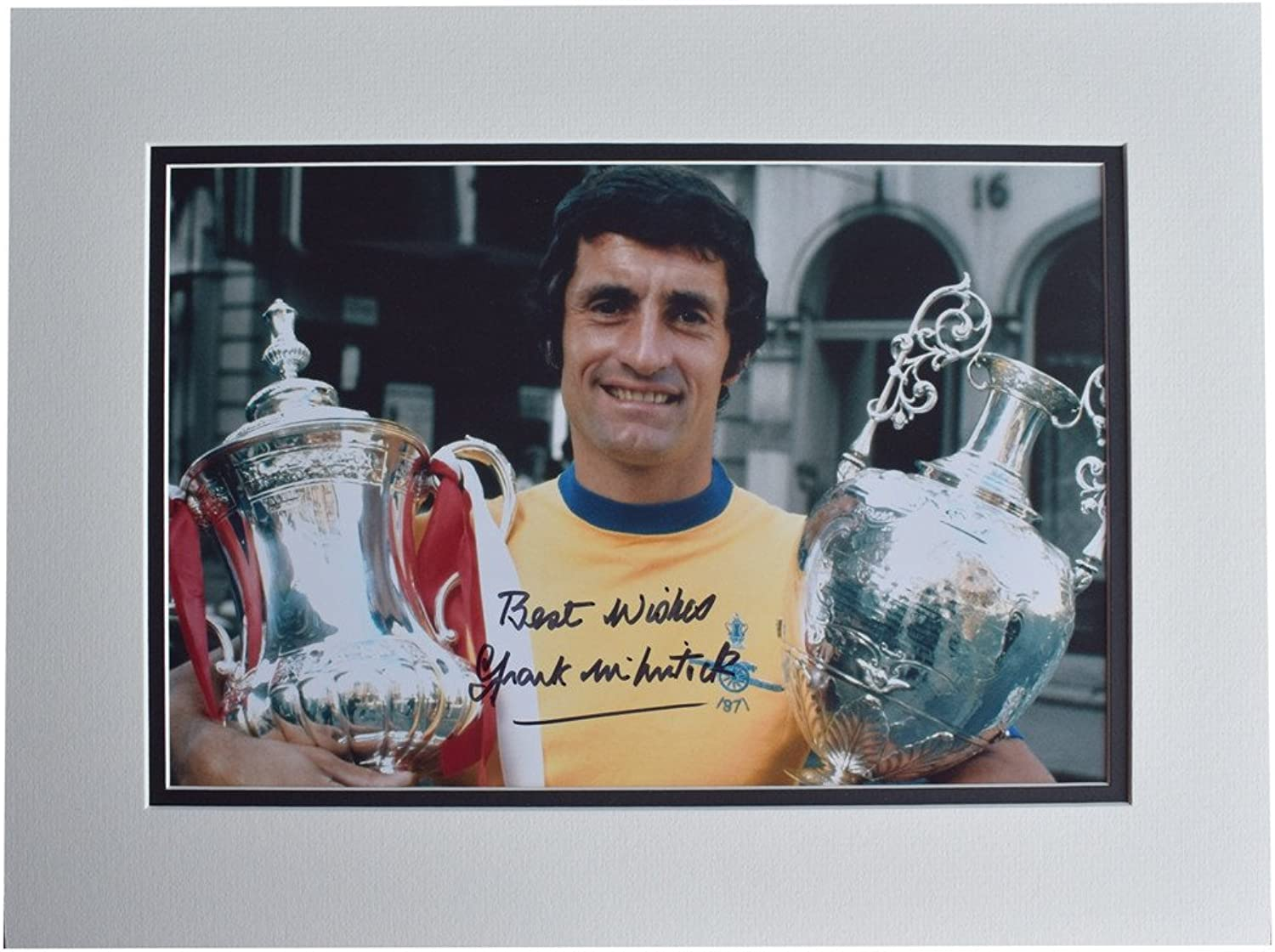 Sportagraphs Frank McLintock SIGNED autograph 16x12 photo display Arsenal Football AFTAL COA PERFECT GIFT