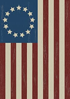 Toland Home Garden Betsy Ross 28 x 40 Inch Decorative Rustic Patriotic Classic America USA July 4 House Flag