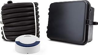 سیستم هشدار درایو بی سیم Dakota Alert DCRH-4000 - گیرنده DCR-4000 و جعبه فرستنده DCHT-4000 با سنسور شیلنگ لاستیکی 25-FT - سنسور وسایل نقلیه شیلنگ لاستیکی 25-FT - برد حداکثر 1 مایل