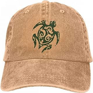 NO4LRM Men's Women's Tribal Turtle Cotton Adjustable Peaked Baseball Dyed Cap Adult Washed Cowboy Hat