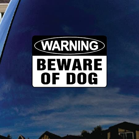 Beware Of Dog Warning Sign Car Bumper Sticker Decal /'/'SIZES/'/'