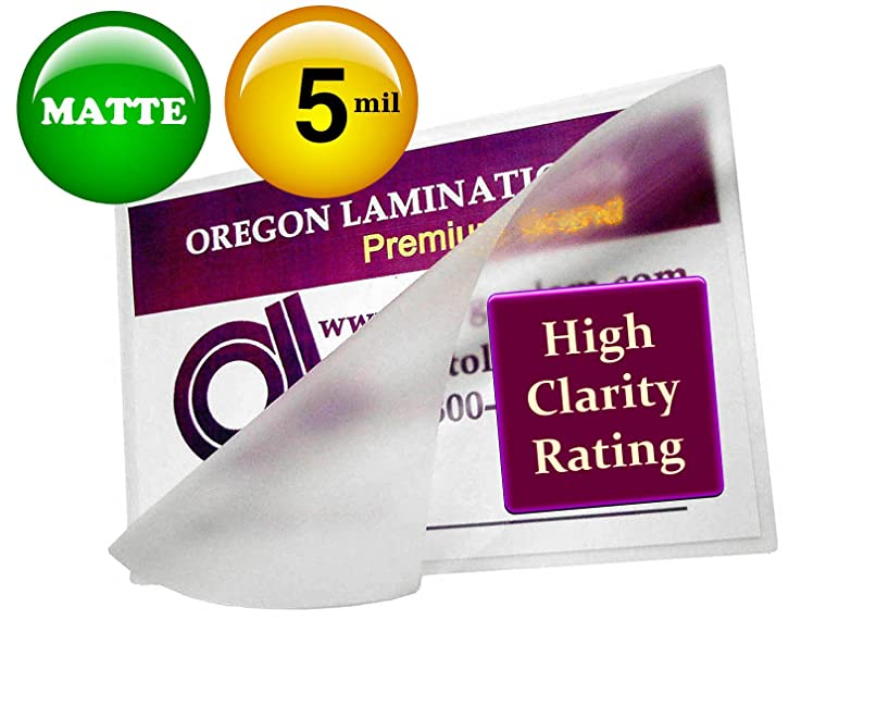 Oregon Lamination Hot Laminating Pouches Small Menu (pack of 200) 5 Mil 11-1/2 x 17-1/2 Matte/Matte