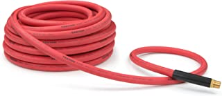 TEKTON 46367 1/2-Inch I.D. by 50-Foot 250 PSI Rubber Air Hose with 1/2-Inch MPT Ends and Bend Restrictors
