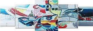 """Arte astratta 5 in 1 Multicanvas Pittura""""COMPOSIZIONE"""" decorazione murale per camera da letto, soggiorno, ufficio di DOBOS"""