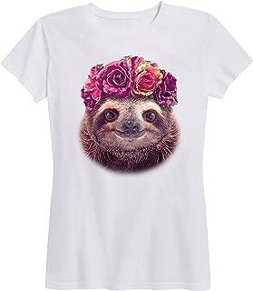 Sloth Flower Crown - Ladies Short Sleeve Classic Fit Tee