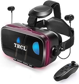 VRゴーグルvrゴーグルスマホ用 VR VRヘッドセット通話に応答する機能付きアンチブルーレンズ瞳孔/焦点距離調節 1080PHD画質 3D ゲーム映画動画4.7~6.5インチの iPhone Android などのスマホ対応 ...