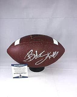 Bob Stoops Oklahoma Sooners Signed Ncaa Football Beckett Bas - Beckett Authentication - Autographed College Footballs