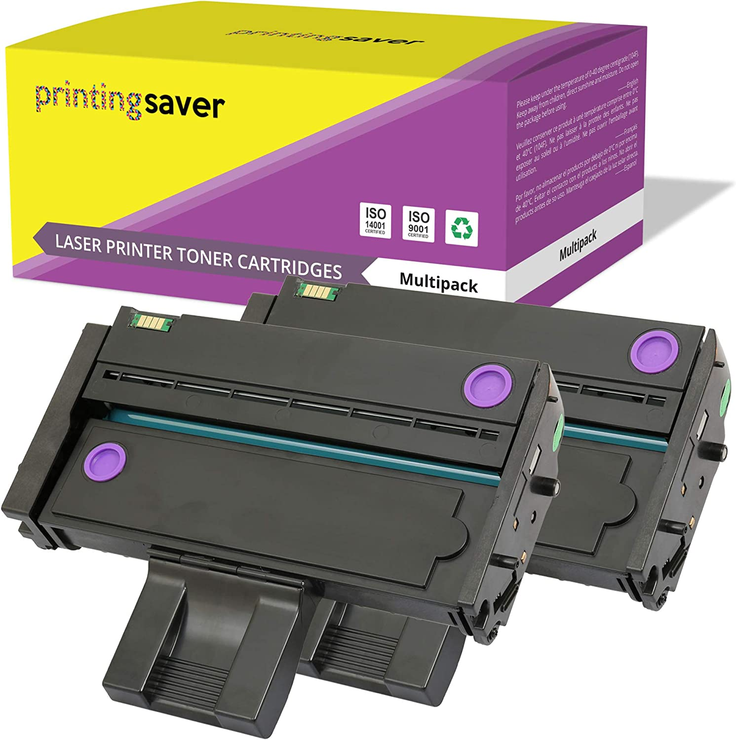 407254 Printing Saver Compatible Laser 2 Toners for RICOH SP 200, SP 201N/NW, SP 202, SP 203S, SP 204SF/SFN/SN, SP 210, SP 211SF/SU, SP 212NW/SFW/SNW/SUW/W, SP 213NW/SFW/SNW/W, SP 214 (2,600 Pages)