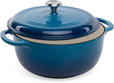 Best Choice Products 6qt Ceramic Non-Stick Heavy-Duty Cast Iron Dutch Oven w/Enamel Coating, Side Handles for Baking, Roastin