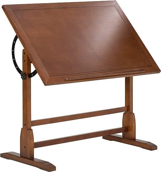 Studio Designs Vintage Rustic Oak Drafting Table Top Adjustable Drafting Table Craft Table Drawing Desk Hobby Table Writing Desk Studio Desk 42 W X 30 D