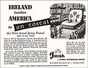 RelicPaper 1955 Ireland: Ireland Invites American to an Tostal, Ireland Tourism Print Ad