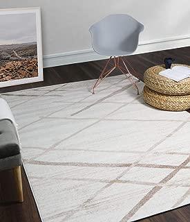 A2Z Rug Modern Contemporary Cream, Beige Salvador 9957 Area Rugs 120x170 cm - 3'9