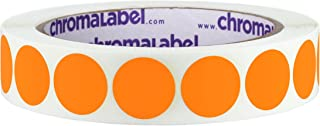 ChromaLabel 3/4 inch Removable Color-Code Dot Labels | 1,000/Roll (Orange)