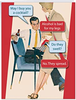 Hilarious Happy Birthday Greeting Card 8.5 x 11 Inch - Jumbo Sized Bad for Legs Congratulations - A Good Adult Humor Laugh On Your Birthday (With Envelope) J0754