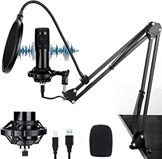 (2021 Nuevo modelo)Cheelom Kit 192KHZ / 24BIT de Micrófono Condensador Profesional y Micrófono Condensador para Radiodifus...