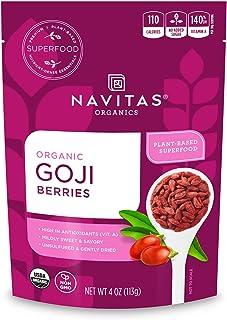 Navitas Organics Goji Berries, 4 oz. Bag, 4 Servings - Organic, Non-GMO, Sun-Dried, Sulfite-Free