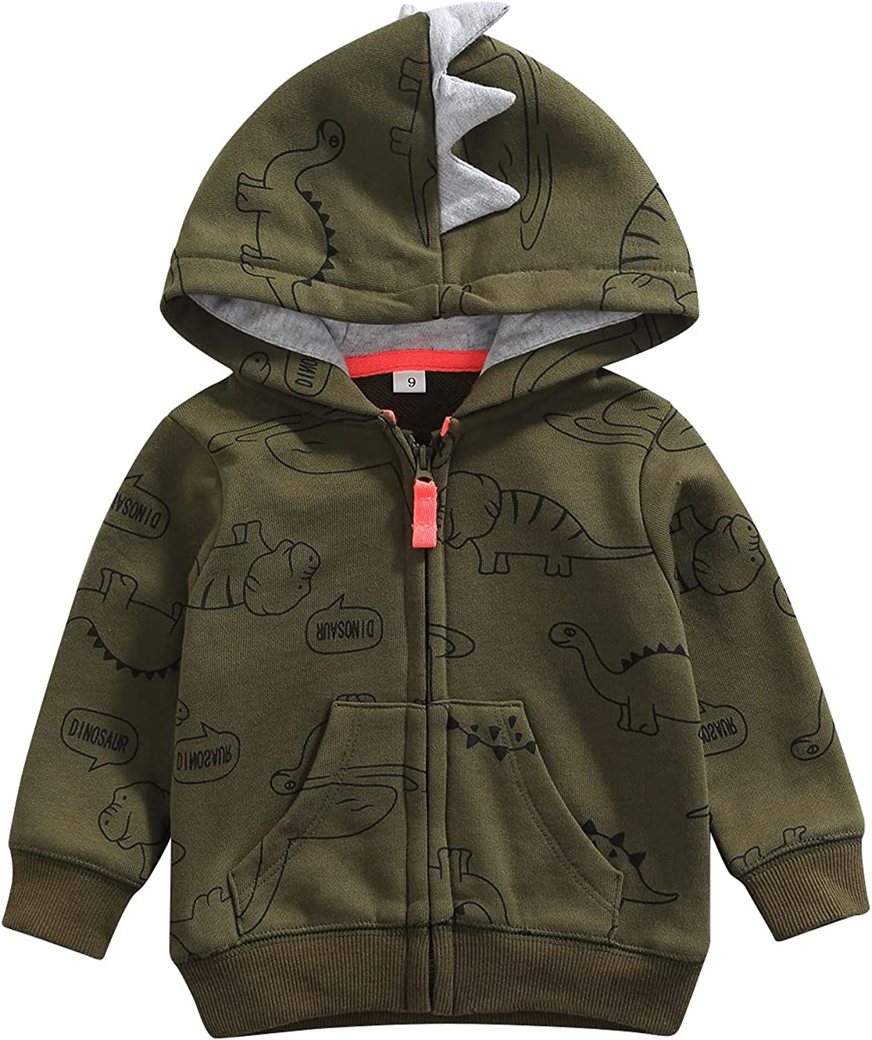 Baby Boy Hooded Jacket Fall Clothes Coat Ranking TOP3 Dinosaur Hoodie Winter Today's only