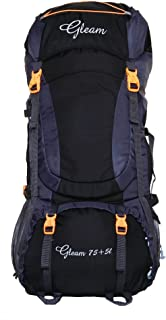 Gleam 0402 Climate Proof Mountain Rucksack, Backpack 80Ltrs Black & Grey with Rain Cover