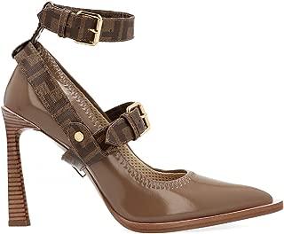 FENDI Luxury Fashion Womens 8I6990A8TWF188F Brown Pumps   Fall Winter 19
