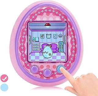 子供用携帯ゲーム 電子ペットおもちゃ 女の子贈り物 きッズプレゼント 6歳から 誕生日 クリスマス 入学 入園 (ピンク)