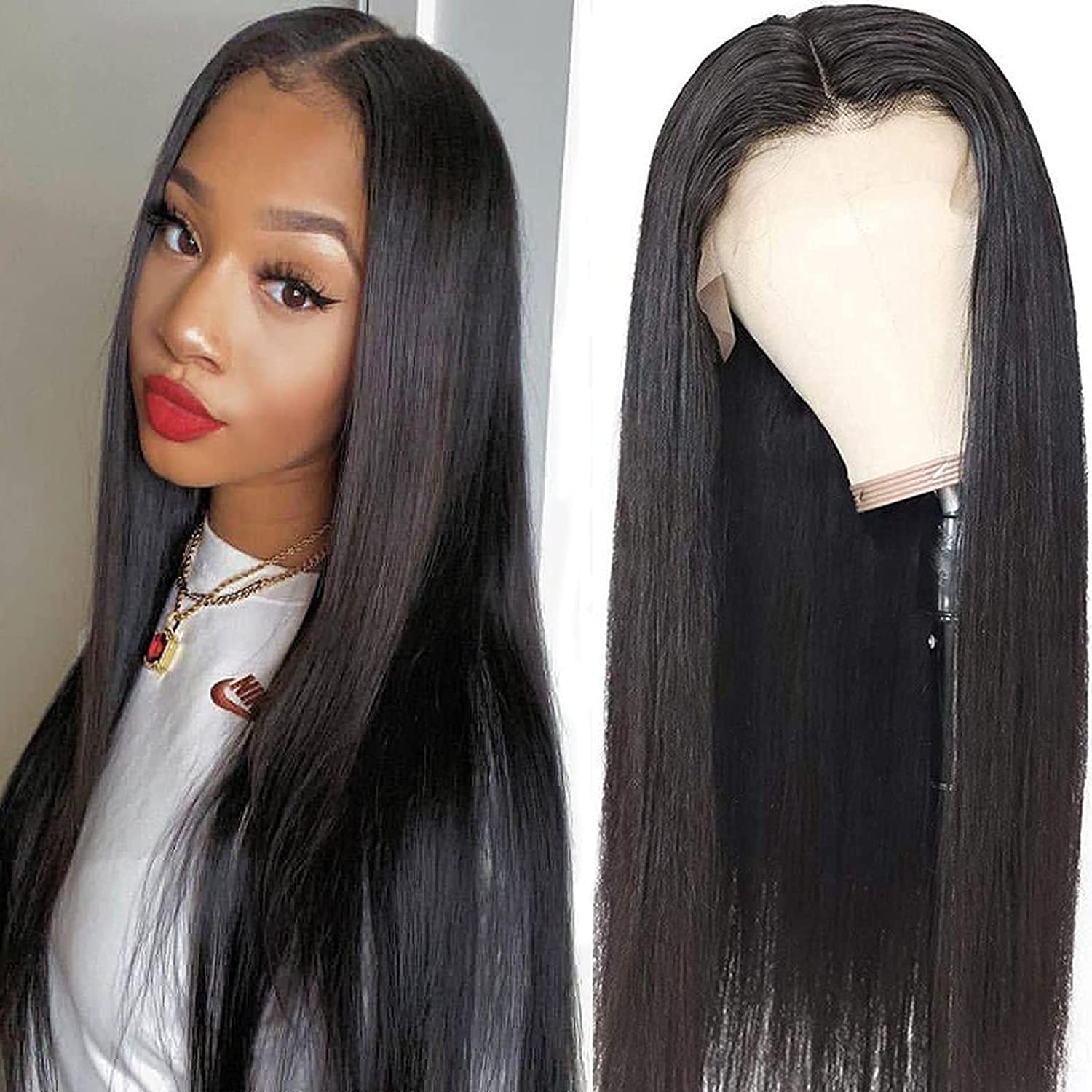 Straight Lace Front Wigs 5 popular Human Super popular specialty store Hair with Baby Pre 1 Plucked