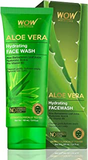 WOW Skin Science Aloe Vera With Hyaluronic Acid and Pro Vitamin B5 Hydrating Gentle Face Wash - No Parabens, Silicones & C...