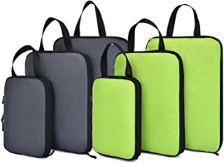 Compression Packing Cubes for Travel Carry On Expandable Storage Packing Organizers 6pcs Set