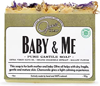 Opas Soap - 100% Natural Baby & Me Fragrance Free Castile Olive Organic Oil Soap with Chamomile