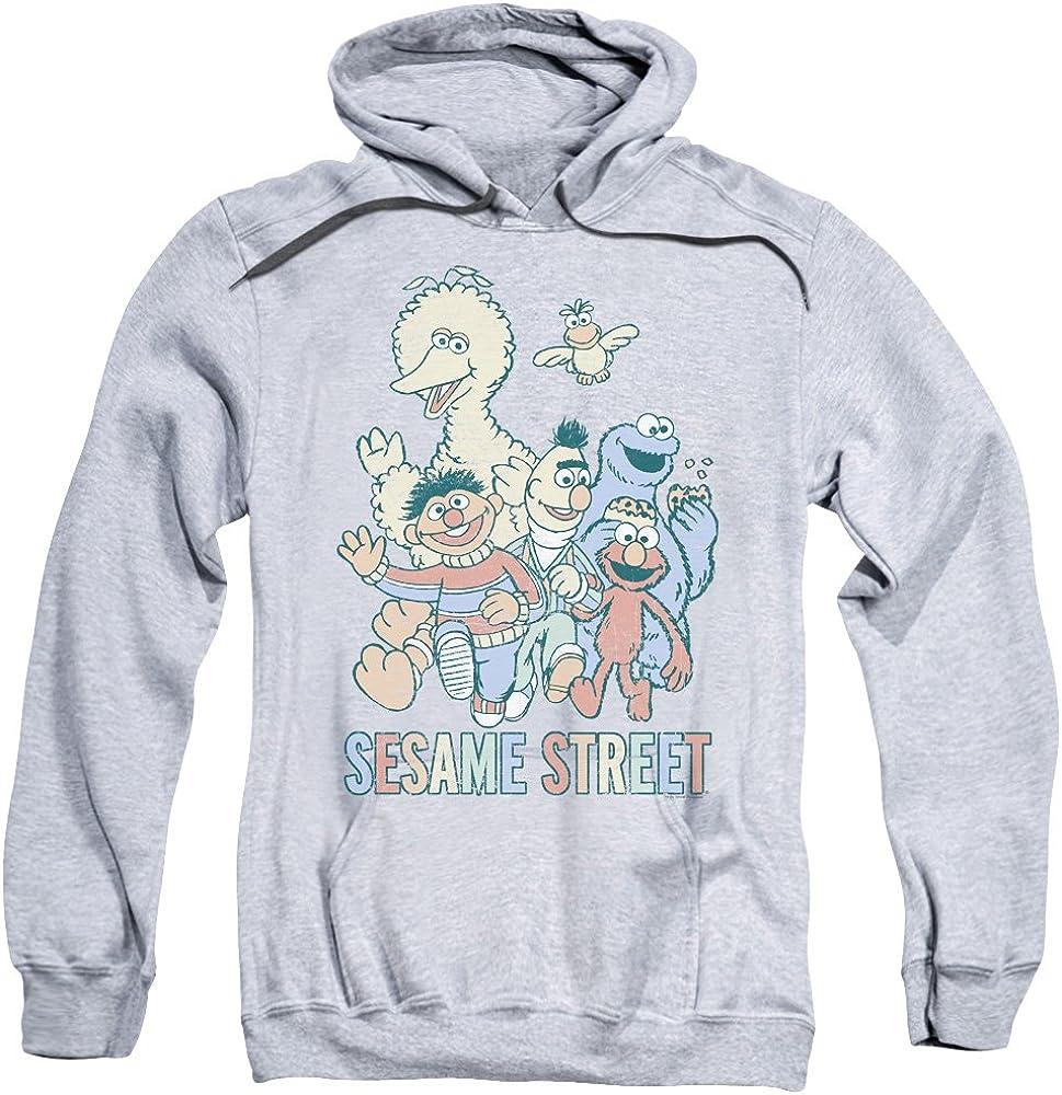 Sesame Street 送料無料限定セール中 Colorful Group Unisex for Pull-Over Adult Hoodie 新作からSALEアイテム等お得な商品 満載 M