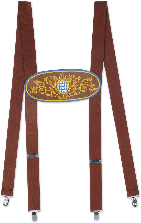 Beistle Bavarian Suspenders, OSFM, Multicolor