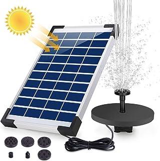AISITIN Solar Fuente Bomba, 5.5W Fuente de Jardín Solar,