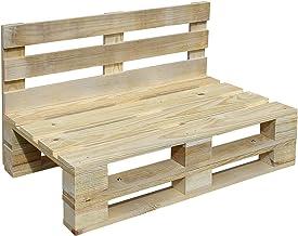 Sofa PALETS Lijado Y Cepillado - Medida 120cm X 60cm -Interior/Exterior Nuevo-Natural Sillon PALETS