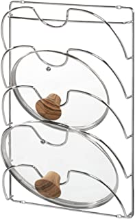 BOSPHORUS 48580 Cookware and Pan Cover Organizer, Silver