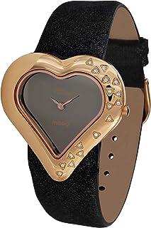 Moog Paris Heart Women's Dial Leather Band Watch -M44332-006