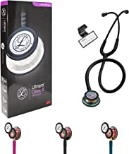 Classic III Monitoring Stethoscope, for Children and Adult, Lightweight Dual Head, Rainbow-Finish Chestpiece, Black Stem a...