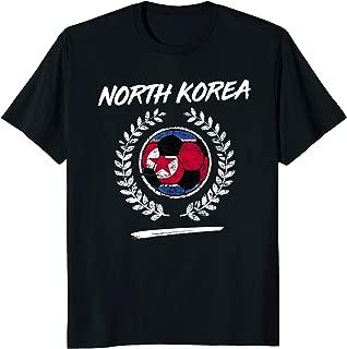 North Korea Flag T-Shirt North Korean Soccer Team Football