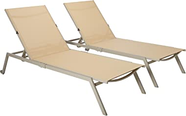 Ostrich - Princeton 2-Pack All Weather Outdoor Patio Chaise Lounge