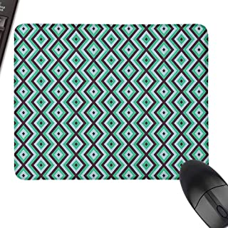 Waterproof Mousepad,Teal and White,for Computers, Laptop, Office & Home,23.6