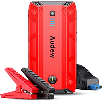 Audew Jump Starter,1500A Peak 17200mAh Portable Jump Starter (Up to 8L Gas or 6L Diesel Engine),12V Auto Battery Booster with Quick Charge,Built-in LED Light