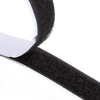 Klettverschl/üsse 1m Klettband 20mm,Hakenband und Flauschband zum Aufn/ähen in hellgrau