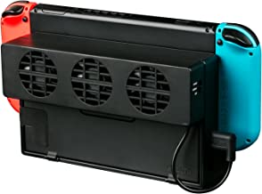 LREGO External USB Power Cooler for Nintendo Switch Docking Station, USB Cooling Fan for NS Original Dock - Black