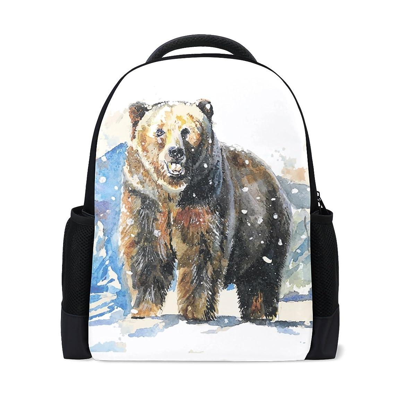 キロメートル竜巻ミキサーAOMOKI バッグ リュックサック 男女兼用 メンズ レディース 通勤 通学 大容量 クマ Bear