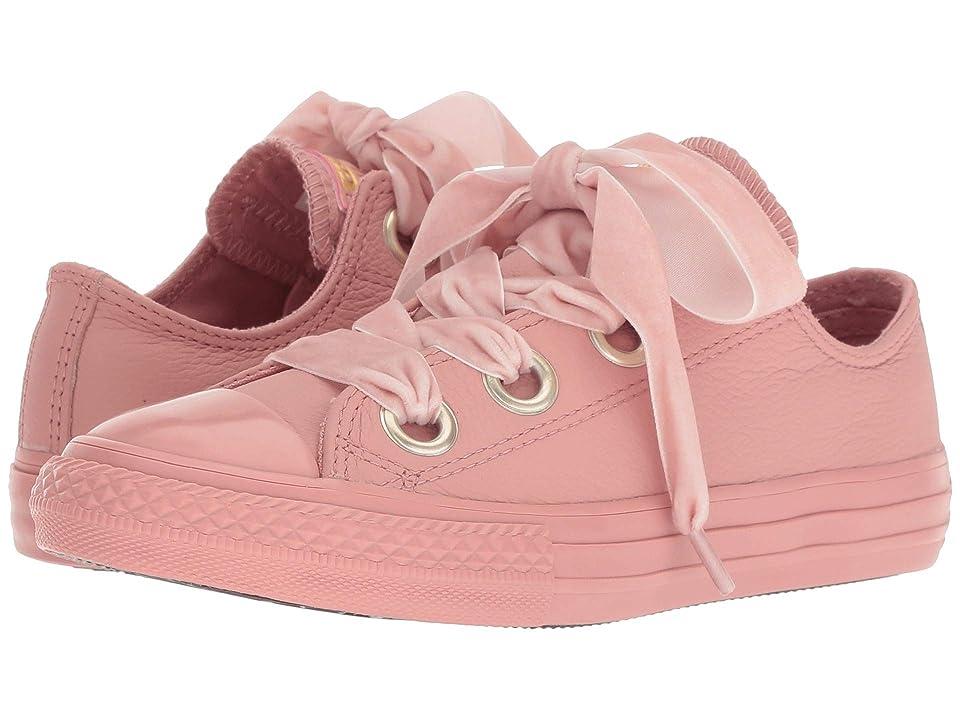 Converse Kids Chuck Taylor(r) All Star(r) Star Big Eyelets Ox (Little Kid/Big Kid) (Rust Pink/Rust Pink/Rust Pink) Girls Shoes