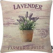 TRENDIN Lavender Farmer Decorative Throw Pillow Case Cushion Cover 18 x 18 45cm x 45cm PL187TR