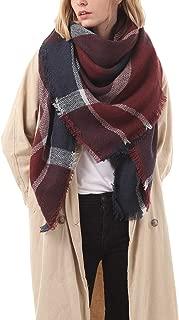 Women's Stylish Warm Tassels Soft Plaid Tartan Scarf Winter Large Blanket Wrap Shawl